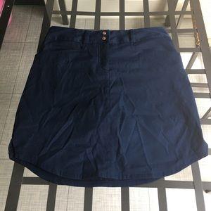 Navy blue golf skirt. Skort
